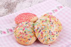 Sugar sprinkles cookies Royalty Free Stock Photo