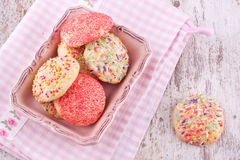 Sugar sprinkles cookies Royalty Free Stock Photography
