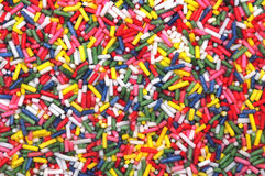 Sugar sprinkles texture Royalty Free Stock Photography