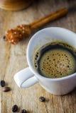 Sugar Stick Cinnamon y taza de café Imagen de archivo libre de regalías