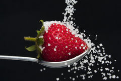 Sugar and strawberry Stock Photo
