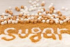 Sugar sweet food ingredient Royalty Free Stock Image