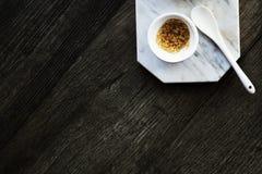 Sugar Sweetening Marble Dish Concept Royalty Free Stock Photo
