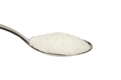 Sugar on a teaspoon Stock Photos