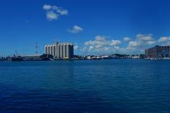 Sugar Terminal i stora partier, Caudan strand, Port Louis, Mauritius Fotografering för Bildbyråer