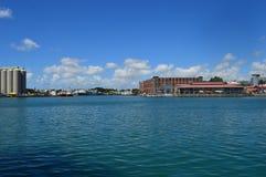 Sugar Terminal i stora partier, Caudan strand, Port Louis, Mauritius Arkivbild
