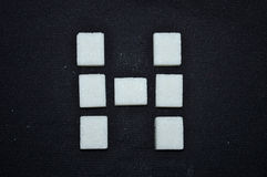 Sugar tile letter Stock Images
