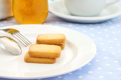 Sugar top crackers snack plate Royalty Free Stock Photography