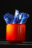 Sugar tubes Royalty Free Stock Images