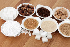 Sugar Types royaltyfri bild