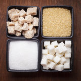 Sugar types Stock Photos