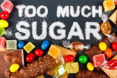 Sugar. Unhealthy food concept - sugar Stock Photos