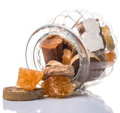 Sugar Variety In Jar V Royalty Free Stock Images