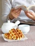 Sugar waffles Stock Photo