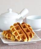 Sugar waffles Stock Images