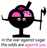 Sugar war. Odds being against you in the war against sugar Royalty Free Stock Images