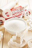 Sugar. White sugar in a bowl Royalty Free Stock Photography