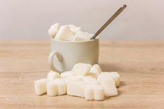 Sugar in a white cup Stock Photo