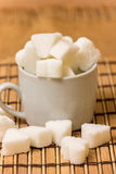 Sugar in a white cup Royalty Free Stock Photo