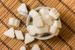 Sugar in a white cup Royalty Free Stock Image