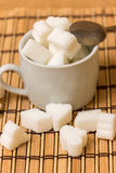 Sugar in a white cup Stock Image