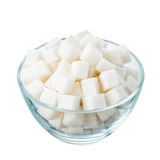 Sugar on white Royalty Free Stock Photography