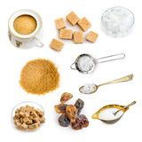 Sugar  on a white Royalty Free Stock Photo