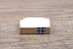 Sugar on wood Stock Photos