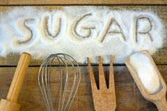 A sugar word with background Royalty Free Stock Images