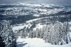 Sugarbowl Ski Resort Scenic stock photography