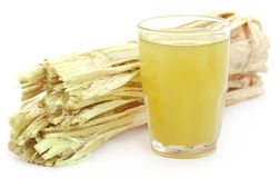 Sugarcane juice with bagasse Stock Photos