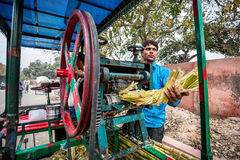 Sugarcane Juice maker in India Royalty Free Stock Photos