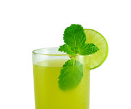 Free Sugarcane Juice With Mint Leaves Royalty Free Stock Image - 64567616