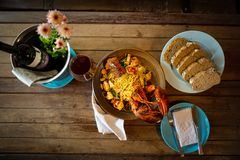 Seafood menu made from Lobster Lobster royalty free stock images