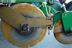 Sugarcane Planter Wheels and Mechanism Royalty Free Stock Image