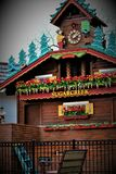 The Worlds Largest Cuckoo Clock. Sugarcreek, OH / United States - May 19 2018: Sugarcreek Ohio is home to the worlds largest cuckoo clock which is also fully Royalty Free Stock Photography
