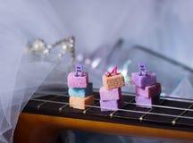sugarcubes принцессы примечания музыки опарника детали яркого блеска гитары милые Стоковое Изображение