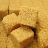 Sugarcubes brown sugar Stock Photography