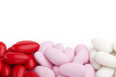 Sugared almonds stock photography
