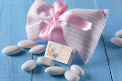 Sugared almonds for baptism Stock Image