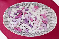 Sugared almonds Stock Photos