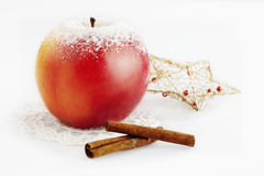 Sugared apple. With cinnamon on white Royalty Free Stock Images