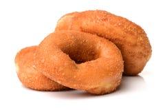 Sugared cake doughnut stock photography