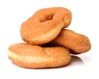 Sugared cake doughnut royalty free stock images
