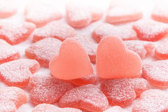 Sugared candy hearts. For Valentine's Day stock photography