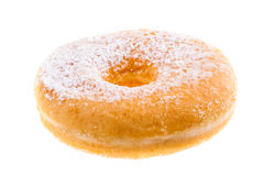 Sugared donut. Delicious tasty donuts isolated over a white background stock photo