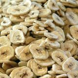 Sugared Dried bananas. Sold in a market stock images