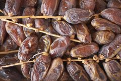 Sugared dates on a tray stock photos