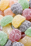 Sugared Fruit Chew Sweets. Close up of Sugared Fruit Chew Sweets royalty free stock images