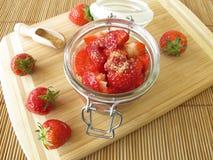 Sugared strawberries Stock Photo